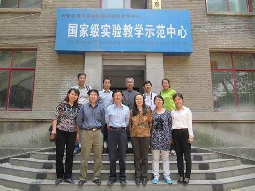 工学院调研西安交通大学实验室建设